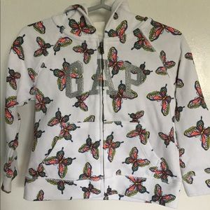 GAP Zip Up Butterfly Hoodie